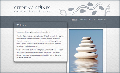 Stepping Stones NHC website screenshot
